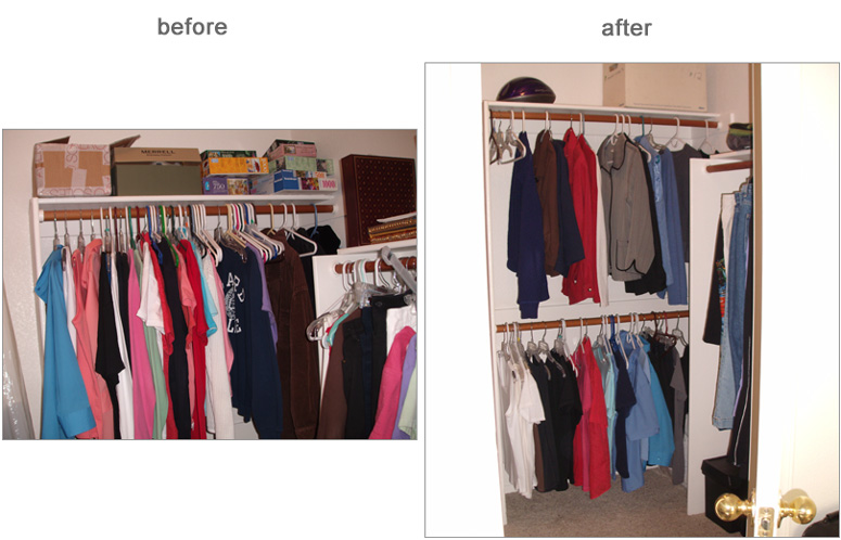 Minimalist makeover beth s closet and kitchen miss for Minimalism before and after