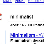 minimalistsearch