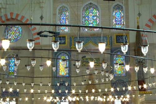 Lanterns in Suleymaniye Mosque