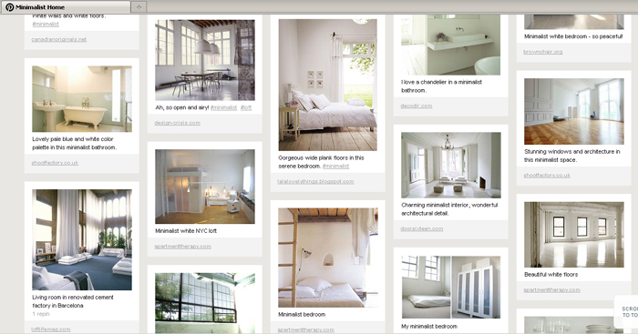 For photos of minimalist spaces join me on pinterest for My minimalist home
